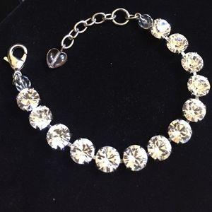 Sabika classic clear crystal bracelet