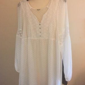 White chiffon blouse/tunic