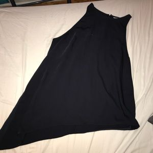 Navy H&M asymmetrical tank top
