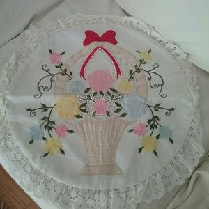 New Lace Trim / Embroidered Pillowcase