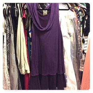 Purple Free People drop waist dress