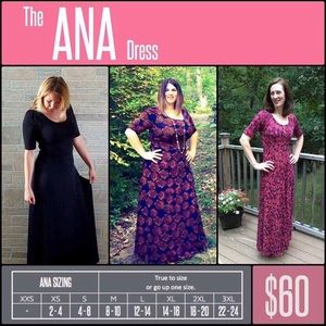 Lularoe Ana full length dress