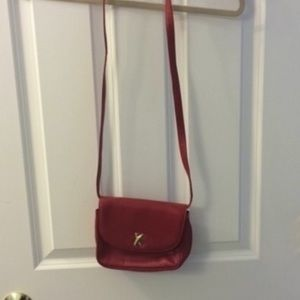 Paloma Picasso Genuine Leather Red Crossbody
