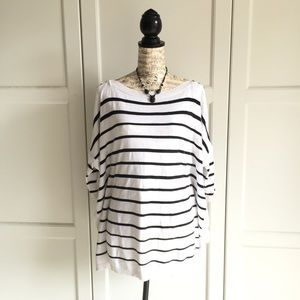 White House Black Market Striped Sweater Tunic