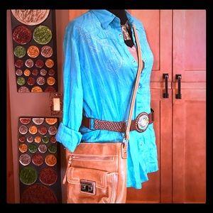 Tan Cross body purse