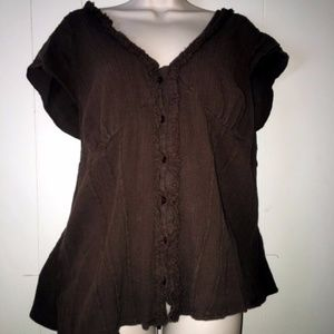 Torrid SZ 3 Brown Gauze Empire Waist Babydoll