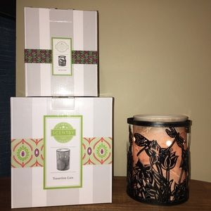 Brand New Scentsy Travertine Core Warmer And Wrap