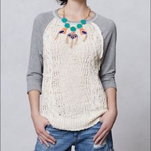 ANTHROPOLOGIE DOLAN Park knit Sweater Size M
