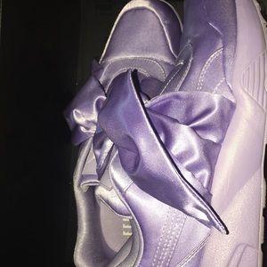 Purple Fenty Bow Sneakers by Rihanna