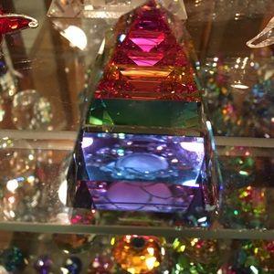 Authentic Swarovski Pyramid Vitrail Medium color