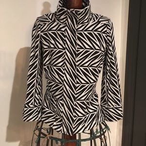 Diane von Furstenburg black and white print jacket