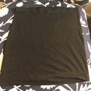 H&M black cotton pencil skirt