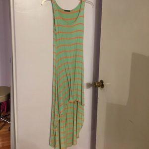 Cotton hi/low dress