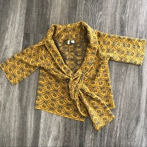 Moth Anthropologie Scarf Tied Cardigan M