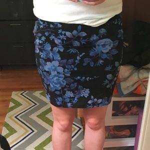 Blue & Purple 🌸 w. Hot Pink Accents Bandaid Skirt