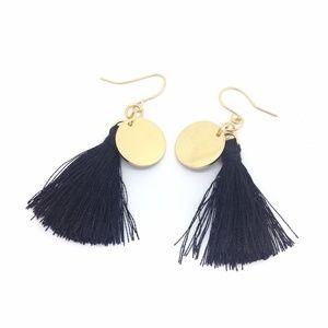 💥4 for $10 💥 Earrings Tassel Black Gold