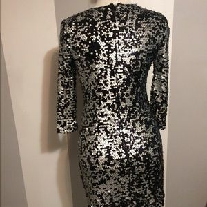d35f0e4f French Connection Dresses - French Connection black & silver sequin dress