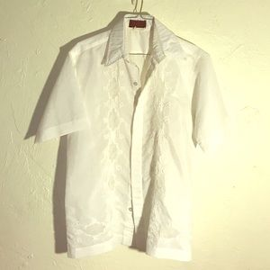 Bella's original men's white short sleeve shirt