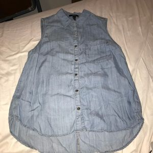 Forever 21 Sleeveless Button Up top