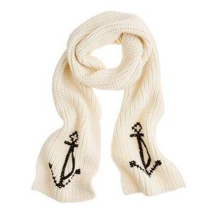 J.CREW lush anchor scarf