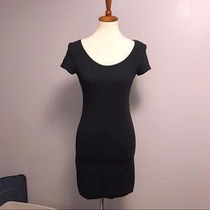 H&M black bodycon tshirt dress small