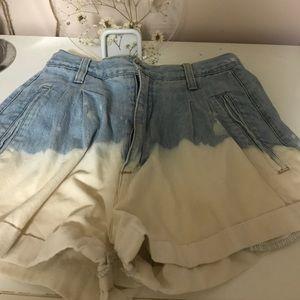 Dip died vintage shorts