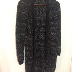 Vintage cashmere chevron long sweater