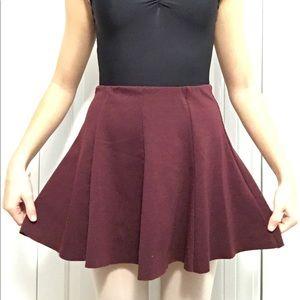 Brandy Melville Red Skater Skirt
