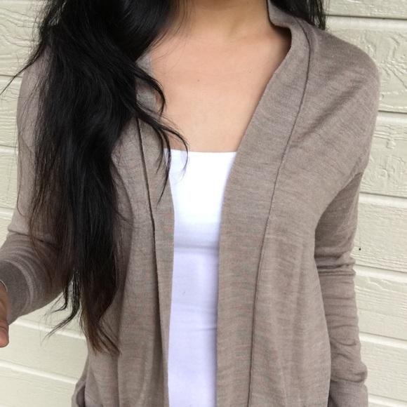 62% off LOFT Sweaters - ANN TAYLOR LOFT LIGHT BROWN LONG SLEEVE ...