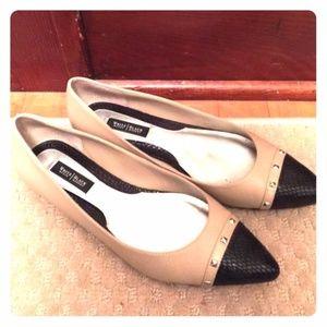 White House Black Market color block flat shoes