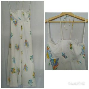 Ethereal 70s maxi halter dress