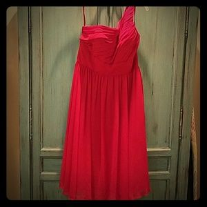 Cabernet Red One shoulder Dress/ Gown