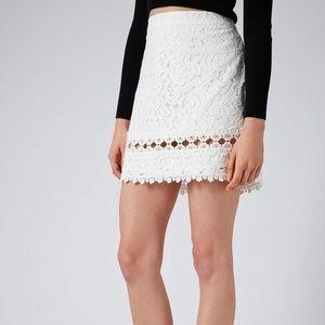 Topshop Crochet Skirt