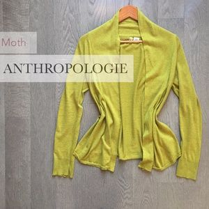 Anthropologie, Moth, Drape Front Cardigan