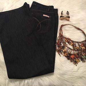 NWOT Calvin Klein Wide Leg Denim Jeans
