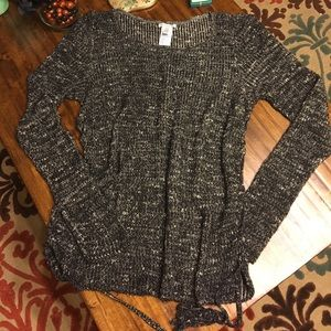 AEO Lace up Sides Sweater