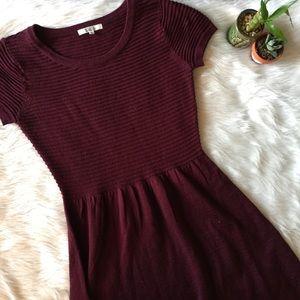NWOT BB DAKOTA Maroon Sweater Dress