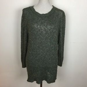 🆕MNG Green with Gold Threading Sweater