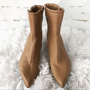 Nine West Tan Leather Ankle Boots Size 5.5