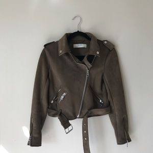 Zara Suede Moro Jacket Brown