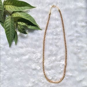 🍂NEW🍂•Unisex• Gold Tone Rope Chain Necklace