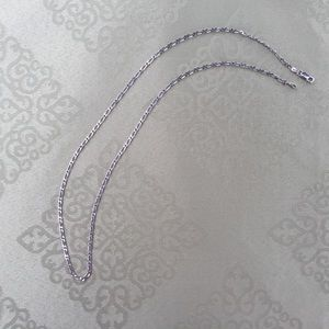 Silver 2mm link chain necklace