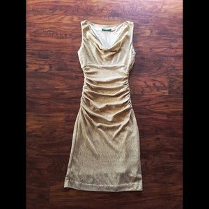 Gorgeous Gold Ralph Lauren Party Dress!