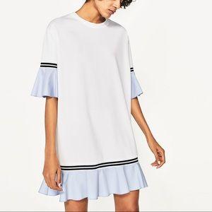 Frilled Sleeve Mini Dress
