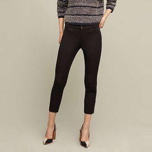 Anthropologie Essential Slim Trousers in Black