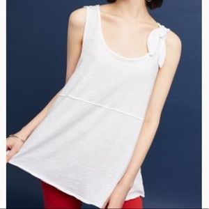 Anthro Pure + Good Tie Shoulder Top