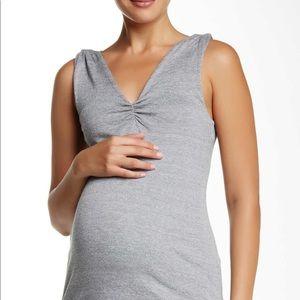 Shirred Shoulder Maternity Tank