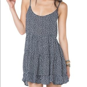 Brandy Melville Floral Print Backless Jada Dress
