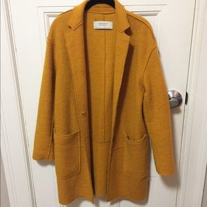 Zara Yellow/Mustard Wool Coat