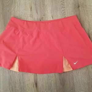 NIKE Dri-Fit Tennis Skirt in orange, coral, peach